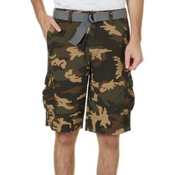 Wearfirst Mens Camouflage Print Cargo Shorts