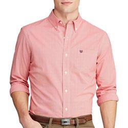 Chaps Mens Pinstripe Button Down Long Sleeve Shirt