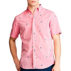 Chaps Mens Lobster Button Down Short Sleeve Shirt