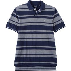 Chaps Mens Stripe Birdseye Polo Shirt