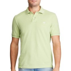 Chaps Mens Solid Birdseye Polo Shirt