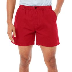Boca Classics Mens Snapper Solid Elastic Waist Shorts