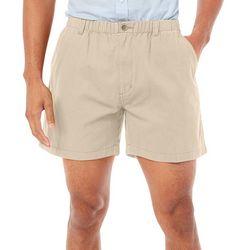 Boca Classics Mens Solid Elastic Waist Shorts