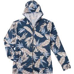 Boca Islandwear Mens Palm Leaf Zipper Front Hoodie