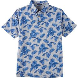 Boca Islandwear Mens Palm Print Polo Shirt