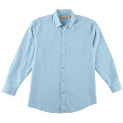 Boca Classics Islandwear Mens Solid Linen Button Down Shirt