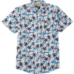 Boca Islandwear Mens Palm Tree Button Down Shirt