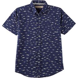 Boca Islandwear Mens Shark Button Down Shirt