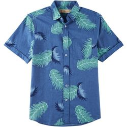 Boca Islandwear Mens Chambray Palm Shirt