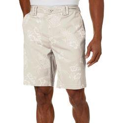 Boca Islandwear Mens Hibiscus Print Shorts