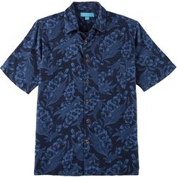 Boca Islandwear Mens Tropical Floral Button Down Shirt