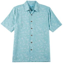 Boca Islandwear Mens Tropical Paisley Button Down Shirt