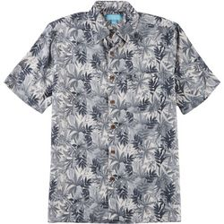 Boca Islandwear Mens Palm Leaf Button Down Shirt