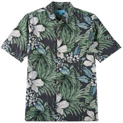Boca Islandwear Mens Hibiscus Button Down Shirt