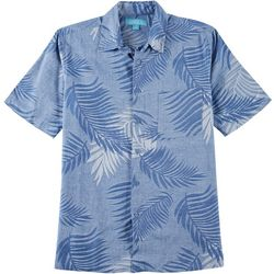 Boca Islandwear Mens Jacquard Palm Leaf Button Down