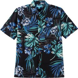 Boca Islandwear Mens Palms Button Down Shirt