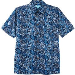 Boca Islandwear Mens Paisley Button Down Shirt
