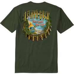 Paradise Shores Mens Island Gold T-Shirt