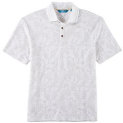 Boca Classics Islandwear Mens Floral Tonal Print Polo Shirt