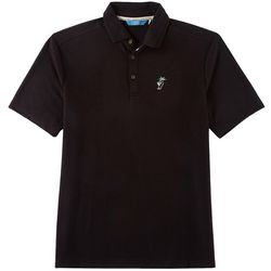 Boca Islandwear Mens Happy Hour Palm Tree Polo Shirt