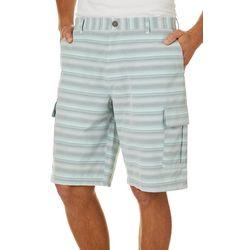 Boca Classics Islandwear Mens Stripe Cargo Shorts