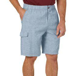 Boca Islandwear Mens Solid Twill Cargo Shorts