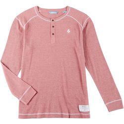 Boca Islandwear Mens Henley Long Sleeve T-Shirt
