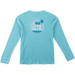 Boca Islandwear Mens Waffle Knit Long Sleeve T-Shirt