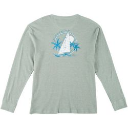 Boca Islandwear Mens Locals Only Boat Long Sleeve T-Shirt