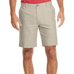 IZOD Mens Breeze Solid Flat Front Short Shorts