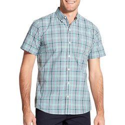IZOD Mens Advantage Cool FX Plaid Button Up Shirt