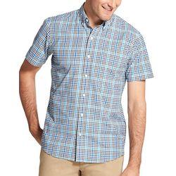 IZOD Mens Advantage Cool FX Plaid Pocket Shirt