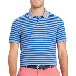 IZOD Mens Advantage Feeder Stripes Print Polo Shirt