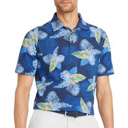 IZOD Mens Tropical Print Short Sleeve Polo Shirt