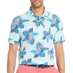 IZOD Mens Tropical Print Short Sleeve Polo Shirt