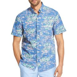 IZOD Mens Dockside Island Woven Button Down Shirt