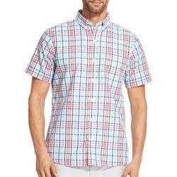 IZOD Mens Breeze Gingham Woven Button Down Shirt