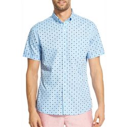 IZOD Mens Star Print Woven Button Down Shirt
