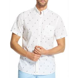 IZOD Mens Breeze Sailboat Woven Button Down Shirt