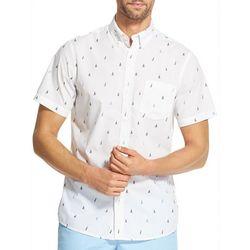 IZOD Mens Breeze Sailboat Woven Button Down Shirt