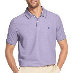 IZOD Mens Heathered Short Sleeve Polo Shirt