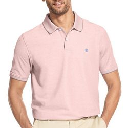 IZOD Mens Heathered Short Sleeve Polo Shirt