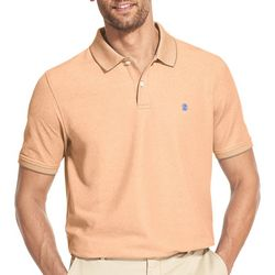 IZOD Mens Advantage Performance Heathered Polo Shirt