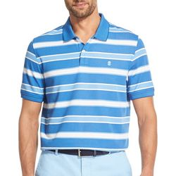 IZOD Mens Advantage Performance Stripe Polo Shirt