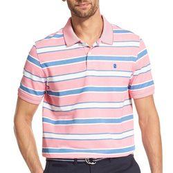 IZOD Mens Advantage Stripe Short Sleeve Polo Shirt