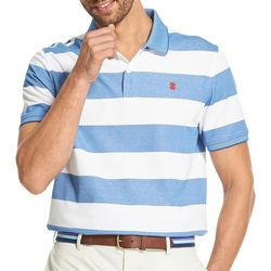 IZOD Mens Advantage Rugby Stripe Print Polo Shirt