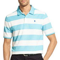 IZOD Mens Advantage Rugby Stripe Polo Shirt