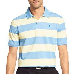 IZOD Mens Advantage Rugby Stripes Short Sleeve Polo Shirt