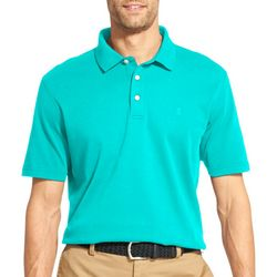 IZOD Mens Solid Interlock Short Sleeve Polo Shirt