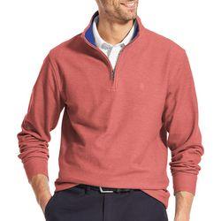IZOD Mens Saltwater Quarter Zip Pullover Sweatshirt